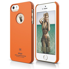 S5 Slim Fit Case for iPhone 5/5s/SE - Soft Orange