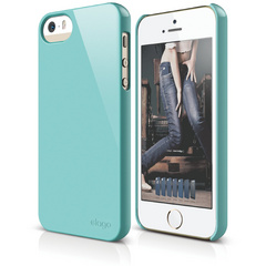 S5 Slim Fit 2 Case for iPhone 5/5s/SE - Coral Blue