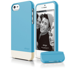 S5 Glide Case with Extra Bottom Clip for iPhone 5/5s/SE - Soft Antique Blue
