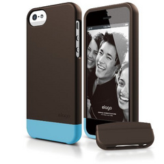 S5 Glide Case with Extra Bottom Clip for iPhone 5/5s/SE - Soft Chocolate